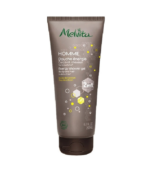 Melvita 2-in-1 MEN'S SHAVING CREAM WITH ORGANIC FACIAL CLEANSER -125 ml