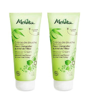 2xPack Melvita Organic Shower Gel with ALMOND AND ORGANIC LINDEN HONEY- 400 ml