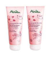 2xPack Melvita Organic Shower Gel with ROSES AND ORGANIC ACACIA HONEY - 400 ml