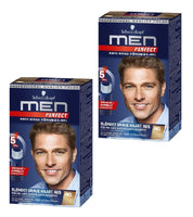 2xPacks Schwarzkopf MEN PERFECT Anti-Gray Hair Color Gel - 7 Color Varieties