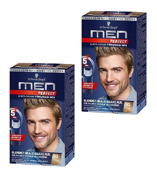 Schwarzkopf MEN PERFECT Anti-Gray Hair Color Gel - 7 Color Varieties - Eurodeal.shop