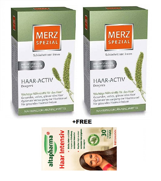 2xPack Merz Special Hair Active Dragees for Shiny Elastic Hair
