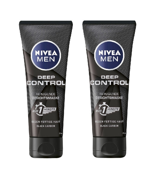 2xPack NIVEA MEN Deep Control 1 Minute Cleansing Face Mask - 150 ml