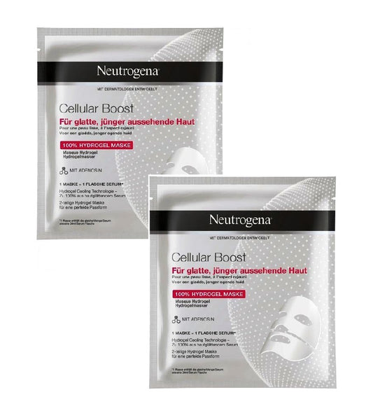 2x Pack Neutrogena Cellular Boost 100% Hydrogel Masks