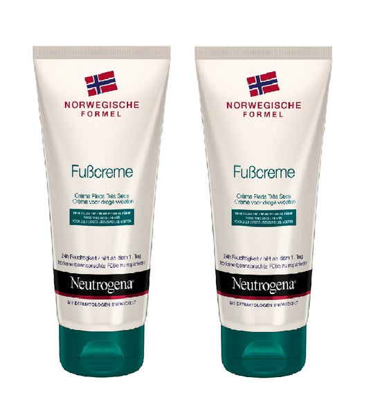 2xPack Neutrogena Norwegian Formula Foot Cream for Very Dry Feet