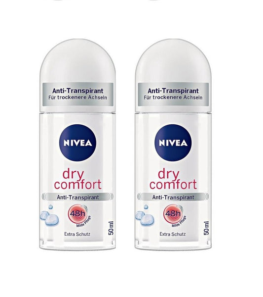 2xPack NIVEA Anti-Transpirant DRY COMFORT Plus Deodrant Roll-on - 100 ml