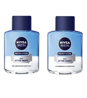 2xPack Nivea Men 2in1 AFTER SHAVE Protect & Care with Aloe Vera 100 ml each - Eurodeal.shop
