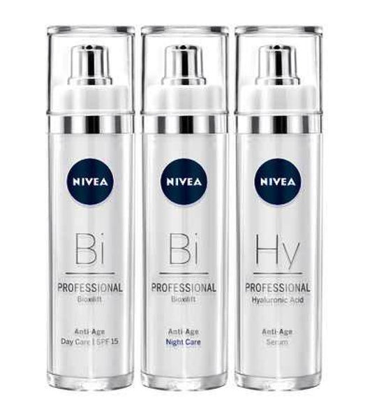 NIVEA SKIN TIGHTENING & REJUVENATING BIOXILIFT DAY, NIGHT + HYALURON SERUM PROFESSIONAL SET