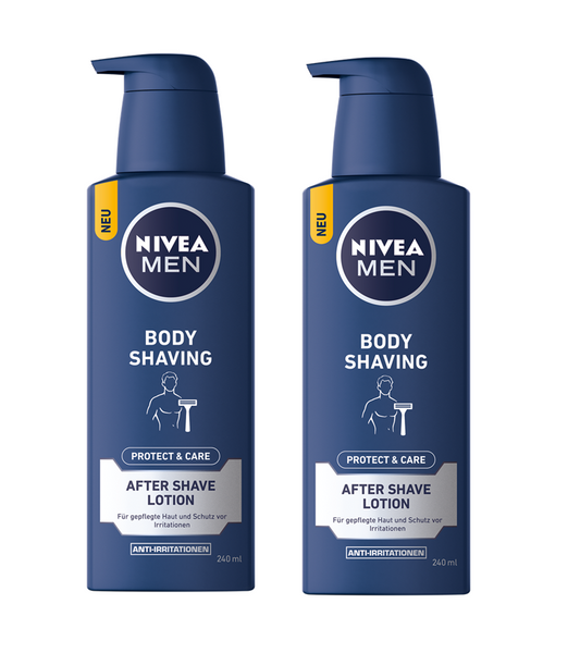 2xPack NIVEA Men PROTECT & CARE BODY SHAVING AFTER SHAVE LOTION -480ml