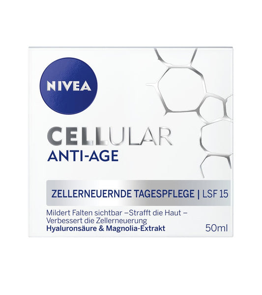 NIVEA CELLULAR Anti-Aging Cell Renewal Day Care SPF15 - 50 ml - Eurodeal.shop