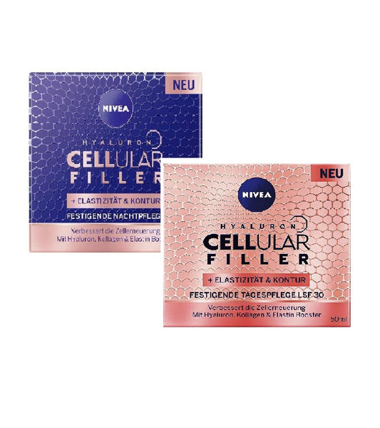 NIVEA Hyaluron Cellular Filler Firming-Shaping Day and Night Cream Set