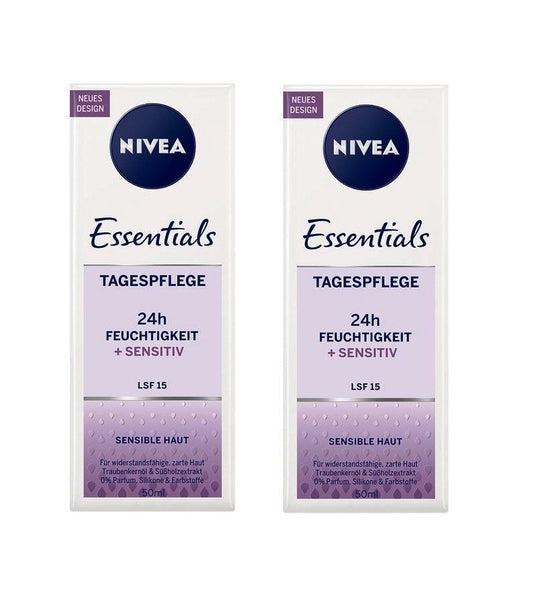 2x Packs NIVEA Essentials Day Cream Licorice Extract & Grape Seed OIl - Eurodeal.shop