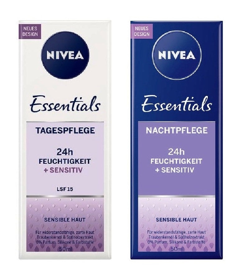 NIVEA Essentials Day and Night Cream Licorice Extract & Grape Seed Oil