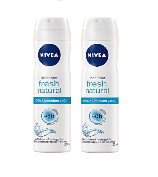 2x NIVEA Fresh Natural Deodorant Spray 2x150 ml Cans - Eurodeal.shop