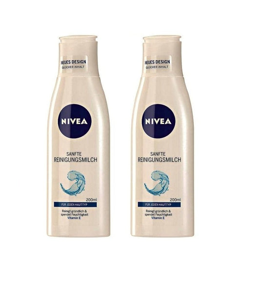 2x Packs NIVEA Gentle Cleansing Milk Moisturizer with Vitamin E - Eurodeal.shop