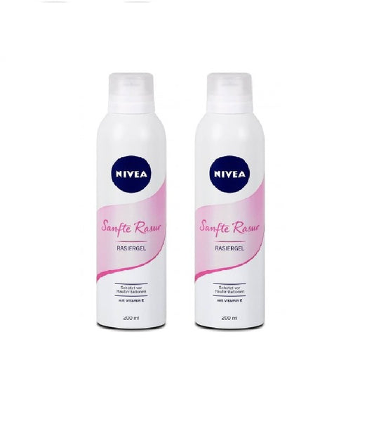 2x Packs Nivea Gentle Shaving Gel (2x200 ml) for Women - Eurodeal.shop