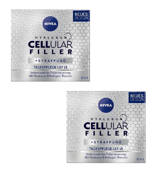 2xPack NIVEA Hyaluron Cellular Filler Day Care Anti-Age Cream LSF 15
