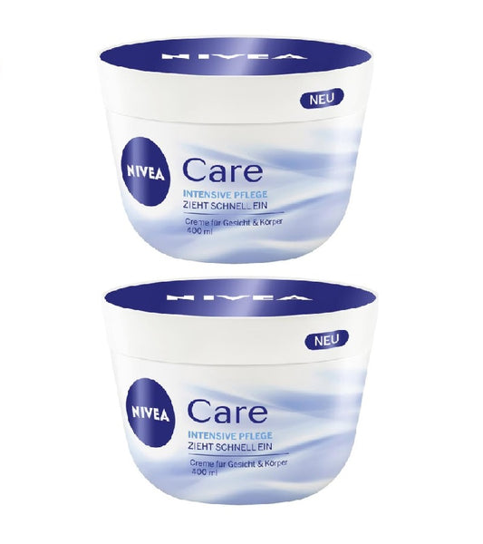 2xPack NIVEA Care Intensive Care Cream - For Face & Body - 800 ml