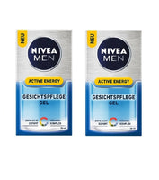 2x Packs NIVEA MEN Active Energy Face Care Gel Fight Fatigue+Vitamins - Eurodeal.shop
