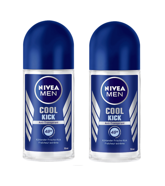2xPack NIVEA MEN COOL KICK Roll on Deodrant