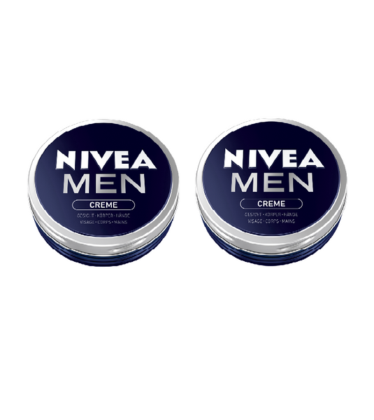 2x Packs NIVEA MEN CREAM - 75 ml each - Eurodeal.shop