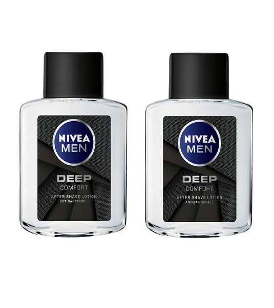 *NEW* 2x Packs NIVEA Men DEEP COMFORT AFTER SHAVE LOTION 100ml each - Eurodeal.shop