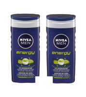2x 250 ml NIVEA Men Nursing Shower ENERGY - Body-Face-Hair-Gel - Eurodeal.shop