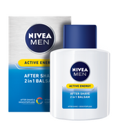 2x Packs NIVEA MEN ACTIVE ENERGY AFTER SHAVE 2 IN 1 BALM - 100 ml each - Eurodeal.shop