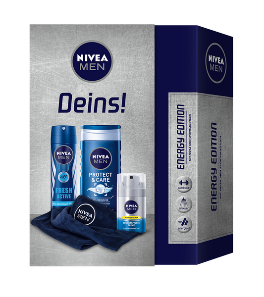 NIVEA MEN ENERGY FACE 4-Piece GIFT SET - Eurodeal.shop