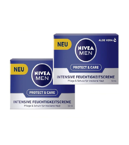 2xPack NIVEA MEN Protect & Care Intensive Moisturizer (50 ml each) - Eurodeal.shop
