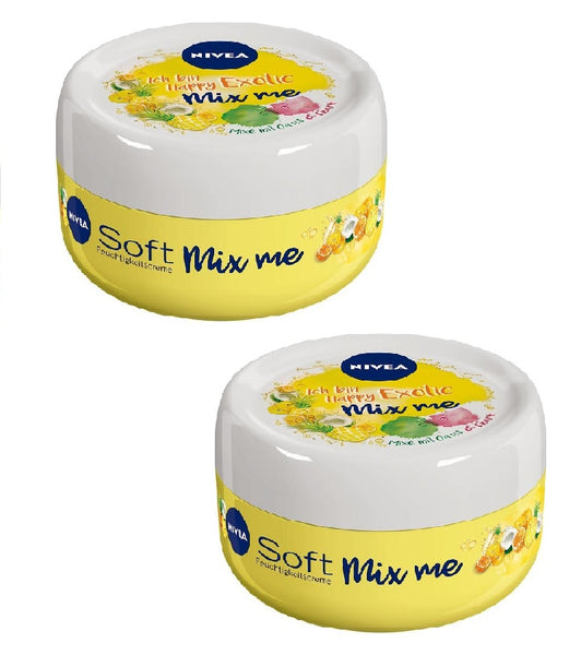 2x Packs NIVEA Soft Mix Me Happy Exotic Moisturizer 100 ml each - Eurodeal.shop