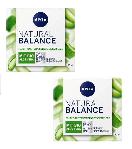 2xPack NIVEA Natural Balance Moisturizing Cream with Aloe Vera