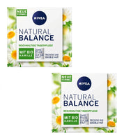 2xPack NIVEA Natural Balance Moisturising Rich Day Cream for Dry Skin w/out Dye/Silicone