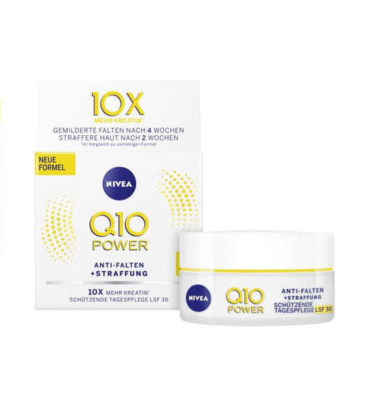 2xPacks NIVEA Q10 Power Anti-Wrinkle Day Care Cream - SPF 30 - Eurodeal.shop