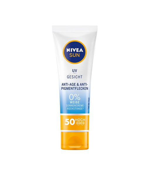 NIVEA SUN UV Face Anti-Age & Anti-Pigment Spots Sunscreen SPF 50 - Eurodeal.shop
