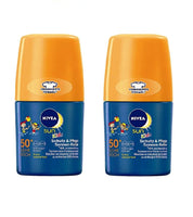2x Pack NIVEA SUN Kids Protection & Care Sun-Roller 50 ml  LSF 50+ - Eurodeal.shop