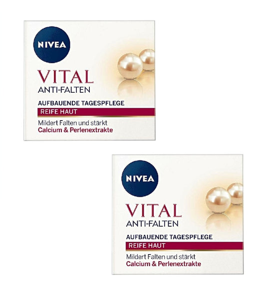 2xPack NIVEA Vital Anti-Wrinkle Build Day Care Calcium+Pearl Extract - Eurodeal.shop