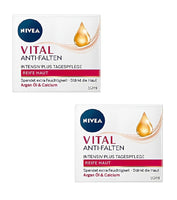 2x Pack Nivea Vital Anti-Wrinkle Extra Rich Cream w/Argan Oil & Calcium - Eurodeal.shop