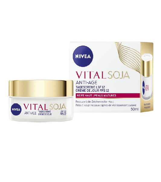 NIVEA Day Care Vital Soja Anti-wrinkle SPF/LSF 12, 50 ml - Eurodeal.shop