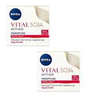 2xPack NIVEA Vital Soja Anti-Age Day Care Cream for Mature Skin  LSF 15