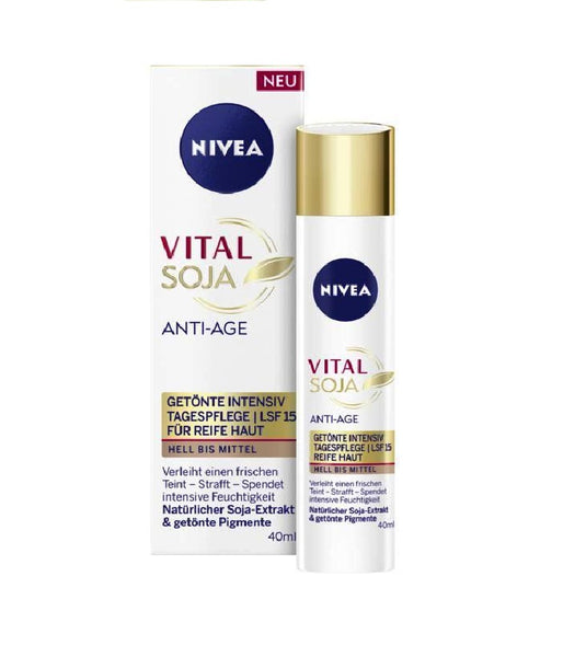 NIVEA Vital Soy Anti-Age Tinted Intensive Day Care Light-Medium SPF15 - Eurodeal.shop