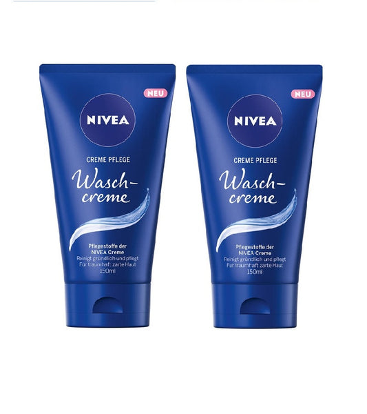 2x NIVEA Facial Cleansing Wash Cream Toner 150 ml - Nourishing Cleanser - Eurodeal.shop