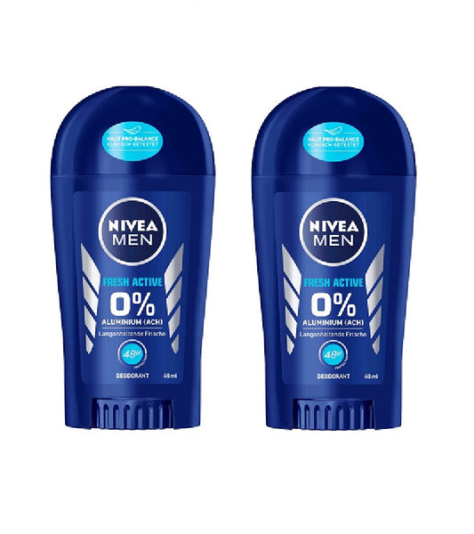 2xPacks NIVEA MEN FRESH ACTIVE Anti-perspirant Deodrant Sticks