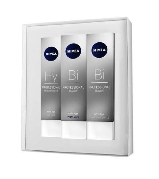 Nivea SKIN TIGHTENING AND REJUVENATING PROFESSIONAL BIOXILIFT DAY, NIGHT + HYALURONIC EYE CARE SET