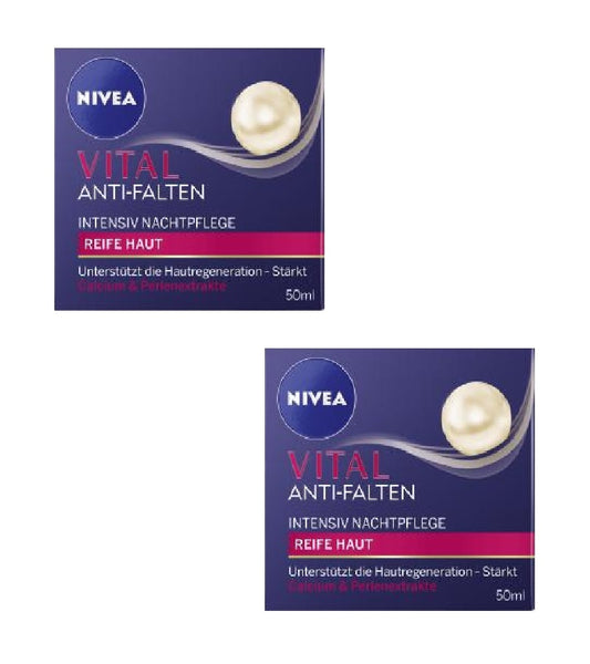2x Pack NIVEA Vital Intensive Anti-Wrinkle Night Care Cream - Eurodeal.shop