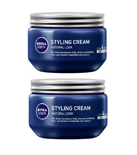 2xPack NIVEA MEN Natural Look Hair Styling Creams - 300 ml