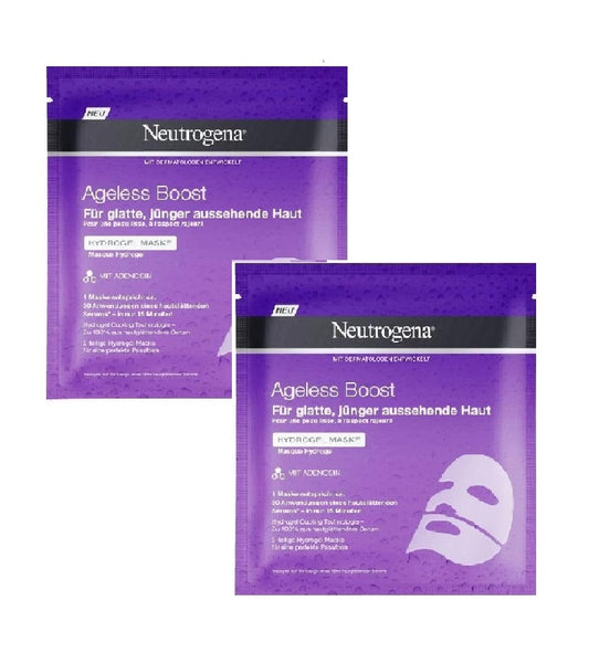 2x Pack Neutrogena Ageless Boost Hydrogel Cleansing Masks