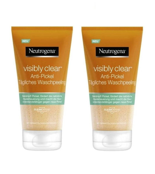 2xPack Neutrogena Visibly Clear Anti-Pimple Daily Scrub - 300 ml