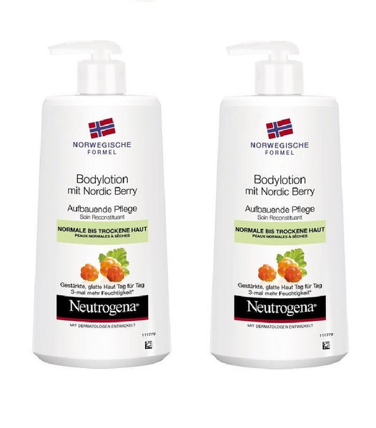 2xPack Neutrogena Norwegian Formula Body Lotion with Nordic Berry - 800 ml