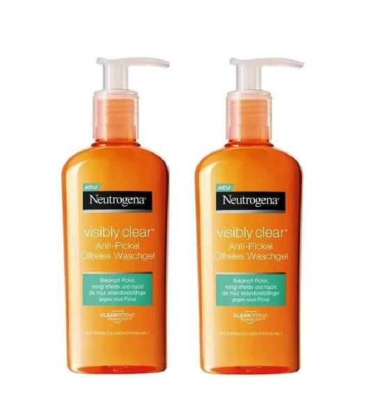 Neutrogena Visibly Clear Anti-pimple Oil-Free Wash Gel - 200 ml - Eurodeal.shop